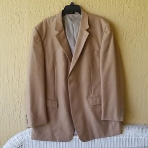 Tan Andrew Fezza mens suit jacket Sz.46L
